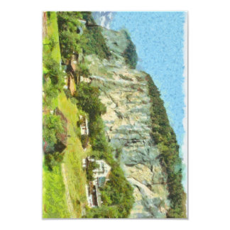 Water falling off a cliff card