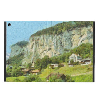 Water falling off a cliff iPad air cover