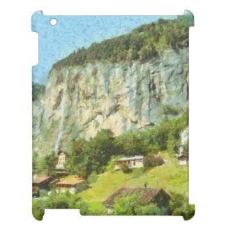 Water falling off a cliff iPad case