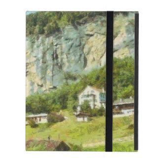 Water falling off a cliff iPad folio case