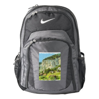 Water falling off a cliff nike backpack
