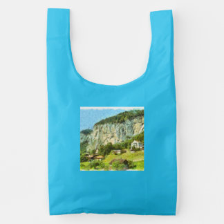 Water falling off a cliff reusable bag