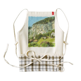 Water falling off a cliff zazzle HEART apron