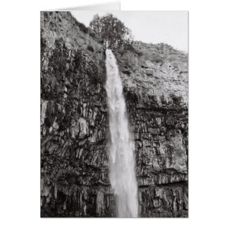 Water falls... card