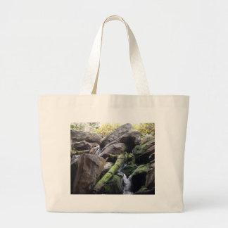Water falls in Oregon Large Tote Bag
