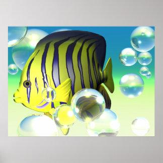 Water Fantasy Angelfish Print