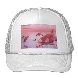 Water Fantasy Dolphin Shirts Trucker Hat