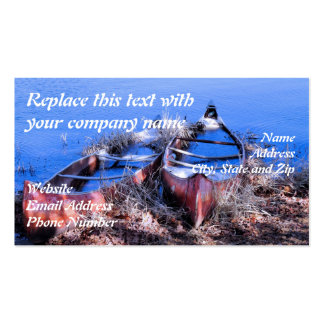 Water Filled Canoes Business Card
