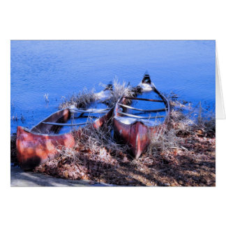 Water Filled Canoes Card