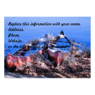 Water Filled Canoes Large Business Card