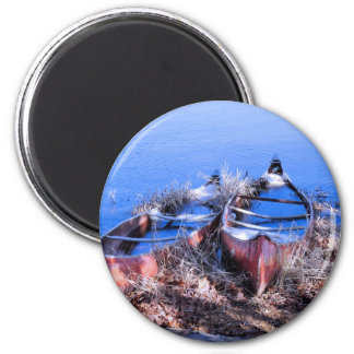 Water Filled Canoes Refrigerator Magnet