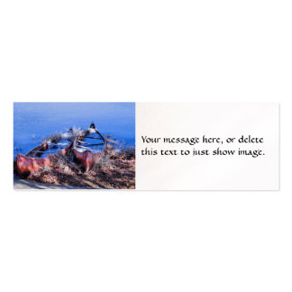 Water Filled Canoes Mini Business Card