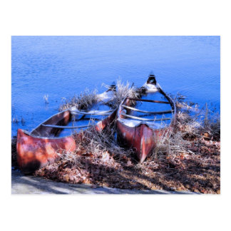 Water Filled Canoes Postcard