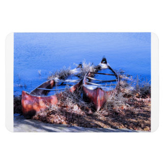Water Filled Canoes Rectangle Magnet