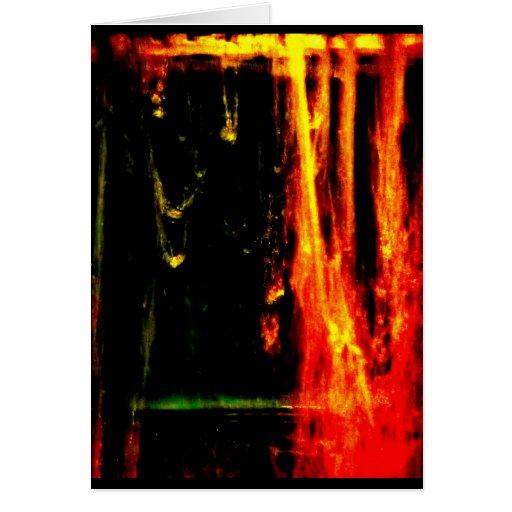 """Water - Fire Spurts"" JTG Art Greeting Card"