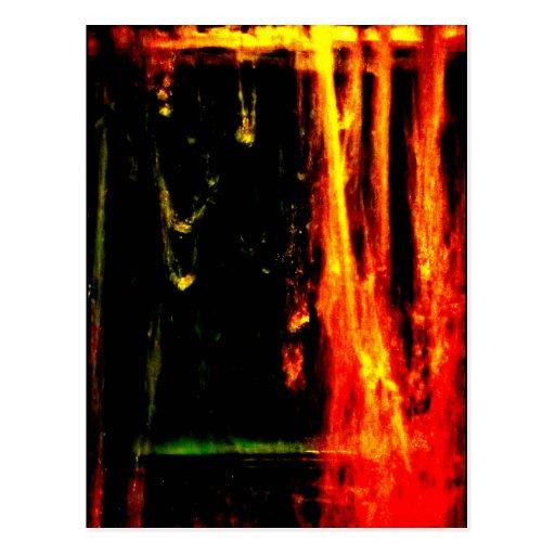 """Water - Fire Spurts"" JTG Art Postcard"