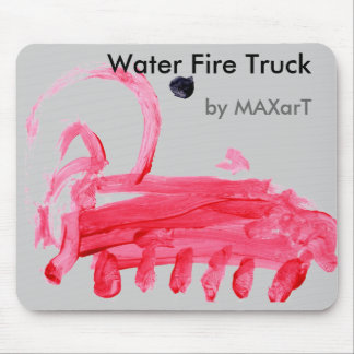 Water Fire Truck by MAXarT Mouse Pad