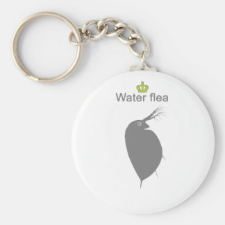 water flea g5 basic round button keychain