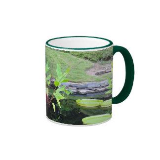Water floral garden mug