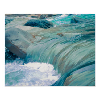 Water flow in the river poster