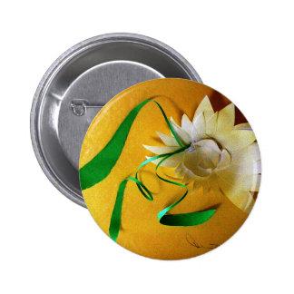Water Flower  by Robert E Meisinger 2014 Pinback Buttons