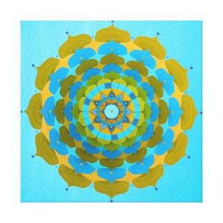 Water flower Mandala on Canvas Canvas Print