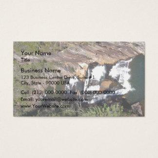 Water flowing between the rocks business card