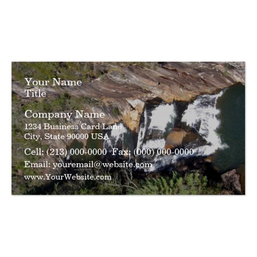 Water flowing between the rocks business card