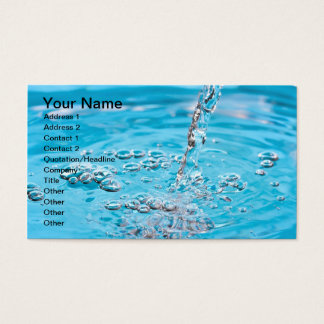 Water Flowing into a Pool Business Card
