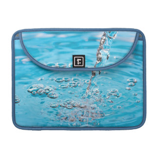 Water Flowing into a Pool Sleeve For MacBooks
