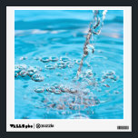 """Water Flowing into a Pool Wall Decal<br><div class=""""desc"""">Clean clear blue water flowing into a pool</div>"""