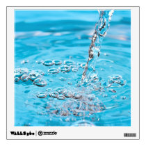 Water Flowing into a Pool Wall Decal