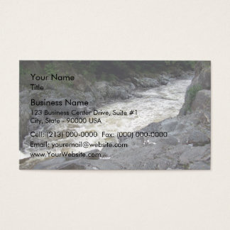 Water flowing through the rocks business card