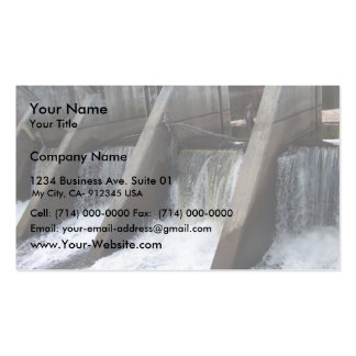 Water Flowing Through The Sections Of The Bridge Double-Sided Standard Business Cards (Pack Of 100)
