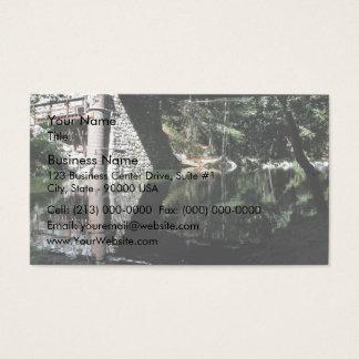 Water flowing under bridge business card