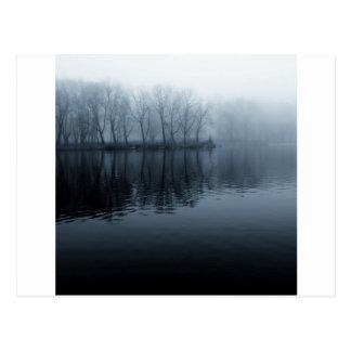 Water Foggy Morning Postcard