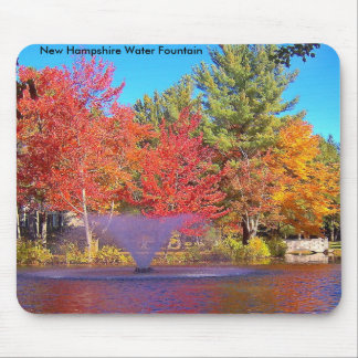 Water Fointain in the Fall, New Hampshire Water... Mouse Pad