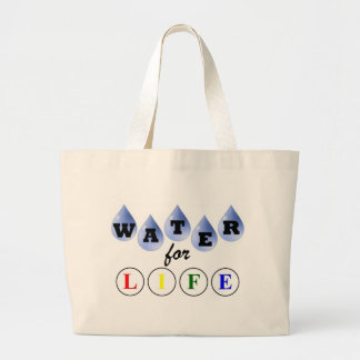 Water for Life Large Tote Bag