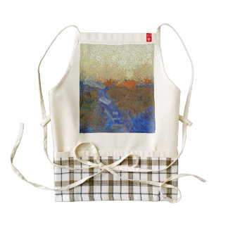 Water for melting ice zazzle HEART apron