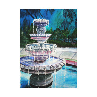 water fountain acrylic painting modern art canvas print