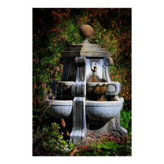 Water Fountain Canvas Poster