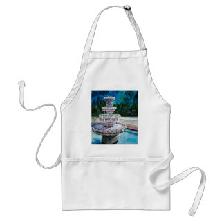 water fountain modern art acrylic painting adult apron