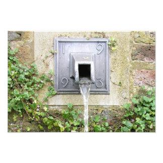 Water fountain photo print