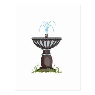 WATER FOUNTAIN POSTCARD