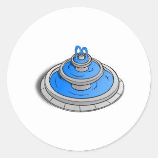 Water Fountain Round Sticker