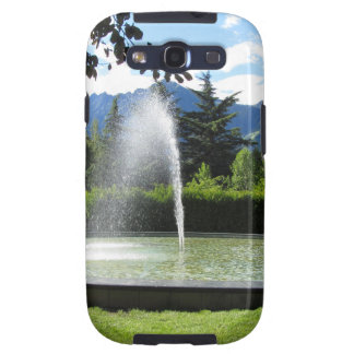 Water fountain with mountain background galaxy SIII cases