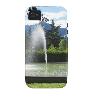 Water fountain with mountain background Case-Mate iPhone 4 cases
