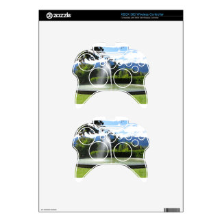 Water fountain with mountain background xbox 360 controller skins