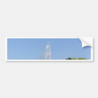 Water fountain with trees bumper sticker
