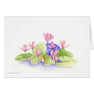 Water Fowers Card